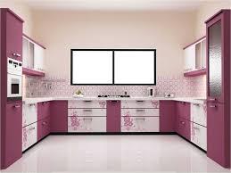 ... Inspiring Small Modular Kitchen Decoration Idea : Casual Small Modular  Kitchen Decoration Using Light Pink Purple ...