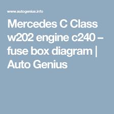 mercedes c class w202 engine c240 fuse box diagram auto genius mercedes c class w202 engine c240 fuse box diagram auto genius