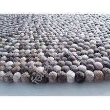 natural felt ball rug