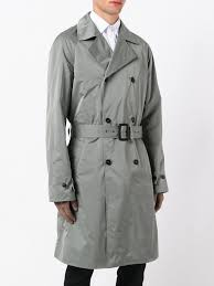 mens coats and jackets jil sander double ted trench coat grey 9je 0163