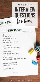 yearly interview questions for kids craftivity designs get this set of 14 interview questions for kids to complete each year use it