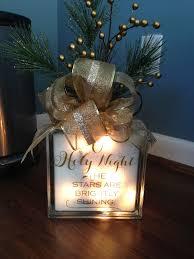 Glass Present Box Lights Christmas Decor Glass Block With Lights Christmas Decal