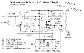small vacuum tube tesla coil vttc jozef bogin jr small vacuum tube tesla coil schematic