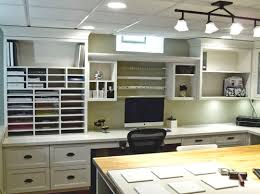 craft room lighting. love this craft room curious what product you used for the larger countertop around perimeter thank you lighting c