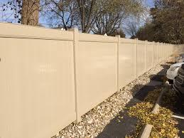 Vinyl privacy fence colors Beige White Vinyl Tan Pvc Privacy Fence Illusions Vinyl Fence Pvc Vinyl Fence Installation In Cincinnati Mills Fence