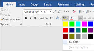 Text Document Apply Or Remove Highlighting Office Support