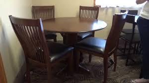ashley furniture stuman round drop leaf table set review