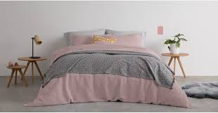 waffle 100 cotton bed set king dusky pink uk bedding sets linen bed bath made com