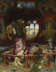 waterhouse the lady of shalott article khan academy william holman hunt the lady of shalott c 1890 1905 oil on canvas wadsworth athenaeum museum of art hartford ct