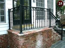 stair railing ideas front porch step ling ideas outside stair lings brick surround for the steps stair railing ideas