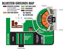 Dakota Seating Chart Mapped Out Bluestem Amphitheater