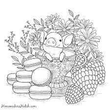 Small Picture Pig in a Tea Cup Adult Coloring Page Tea cup Cups and Teas