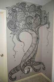 Drawing Wall Best Wall Drawing Ideas Painted Art Vine Drawings Designs For
