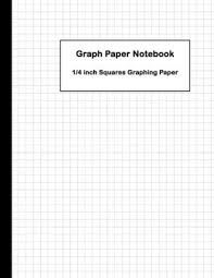 Graph Paper Notebook 1 4 Inch Squares Graphing Paper Squares Graphing Paper Blank Quad Ruled Large 8 5