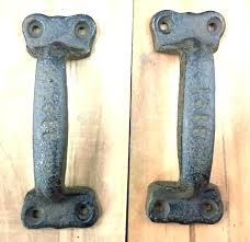 rustic barn door pulls handles wrought iron hardware intended for latc