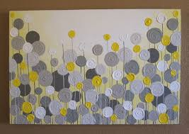 yellow and gray wall art yellow and grey wall decor textured paintings wall art living room wall decor