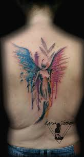 Tetování Anděl Ve Vodovce Watercolour Angel Tattoo Tetování