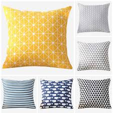 Meijuner <b>Colorful Geometry pattern</b> Modern Simple <b>Cushion</b> cover ...