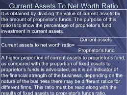 Asset Net Worth Ratio Analysis