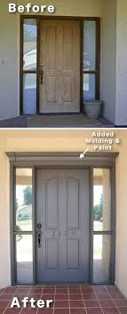 the difference a little attention to the front door can make 3 add molding and paint to your front door 17 impressive curb appeal ideas and