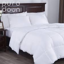 duvet insert full. Puredown Home Bedding White Down Alternative Comforter Duvet Insert Four Leaf Clover Pattern Peach Skin Fabric Full