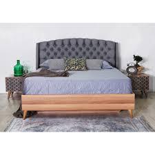 Schlafzimmer Lima 6 Teilig Nussbaum Grau Mit Bett 180x200cm 229990