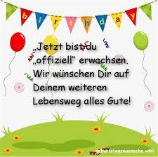 Glückwünsche Zum 18 Geburtstag Geburtstagswuenschewiki