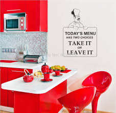 Red Kitchen Decor Popular Wall Art Quotes Kitchen Buy Cheap Wall Art Quotes Kitchen