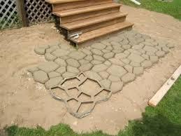 mold to make concrete pavers lovetoknow concrete patio concrete path hardscape