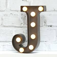 light letters wall decor up letter j home bedroom ideas