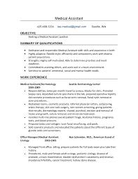 Medical Office Assistant Job Description Sample Resume Medical
