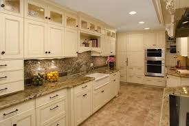 Kitchen: Unique Kitchen Backsplash Ideas With Cream Cabinets With Luxury  Wood Designs Simple Plain Color