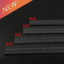 <b>5 Meter</b>(5pcs) <b>2:1 Black</b> Heat Shrink Tubing 18/20/22/25/28/30 mm ...