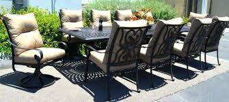piece aluminum outdoor dining set patio chairs table bronze sets for 8