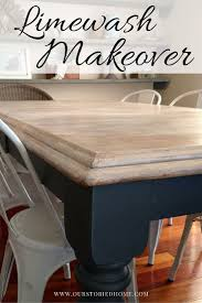 Limewashed Table Makeover Just Random Stuff Kitchen Table