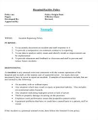 Templates Patient Incident Report Form Template Hospital