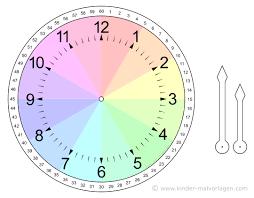 Leeres zifferblatt ausdrucken und die zeiger selbst einzeichnen. Uhren Und Uhrzeit Arbeitsblatter Lernuhr Basteln