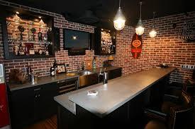 Home Basement Bars Interior Basement Sports Bar Intended For Splendid Home Decor