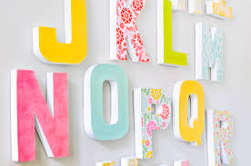 Sometimes you just want a letter wall decor as a statement piece without  the added price
