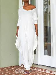 Eric Dress Size Chart Ericdress White Full Length Backless Baggy Pants Loose