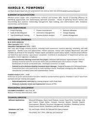 Sample Resume For Business Analyst Position