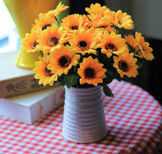 Sunflower home decor Rustic 2019 Sunflower Artificial Flowers Artificial Flowers Bouquet Simulation Small Sunflower Sunflower Home Living Room Decoration Flowers Wholesale From Dhgate 2019 Sunflower Artificial Flowers Artificial Flowers Bouquet