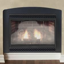 gas fireplace glass doors