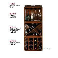 glass rack for bar complete set of 4 wine bottle units pottery barn r40 rack