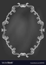 ornamental frame on chalkboard vector image