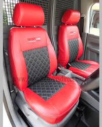 volkswagen vw caddy red black seat covers