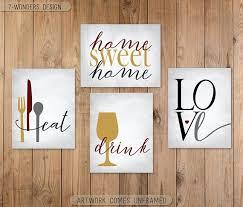 kitchen wall art eat drink love