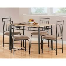 s mainstays wood and metal dining set