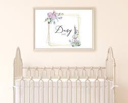 nursery room decor baby girl print