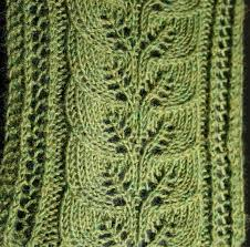 Leaf Knitting Pattern Mesmerizing Brooke's Column Of Leaves Knitted Scarf Pattern
